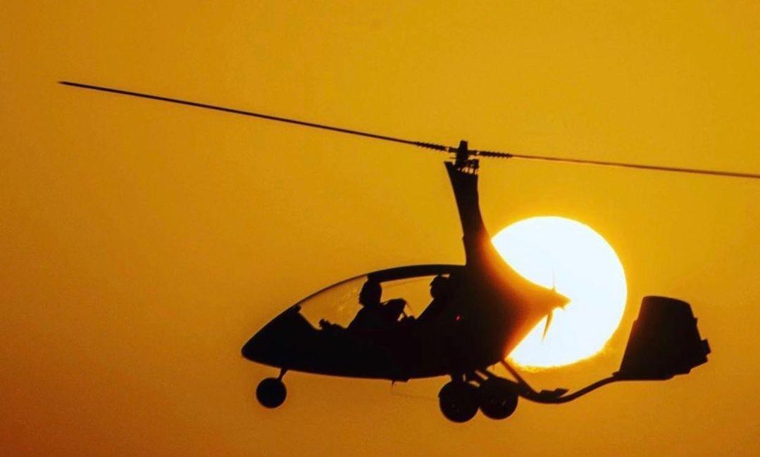 Gyroplane flight