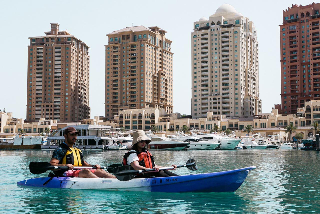 Kayaking at The Pearl-Qatar