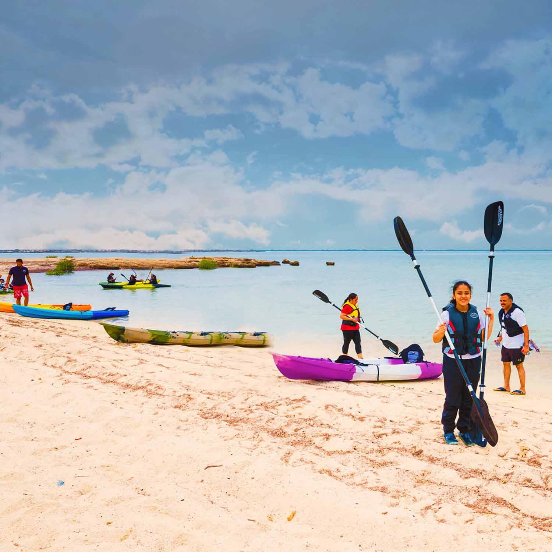 Kayaking at Al Mafjar