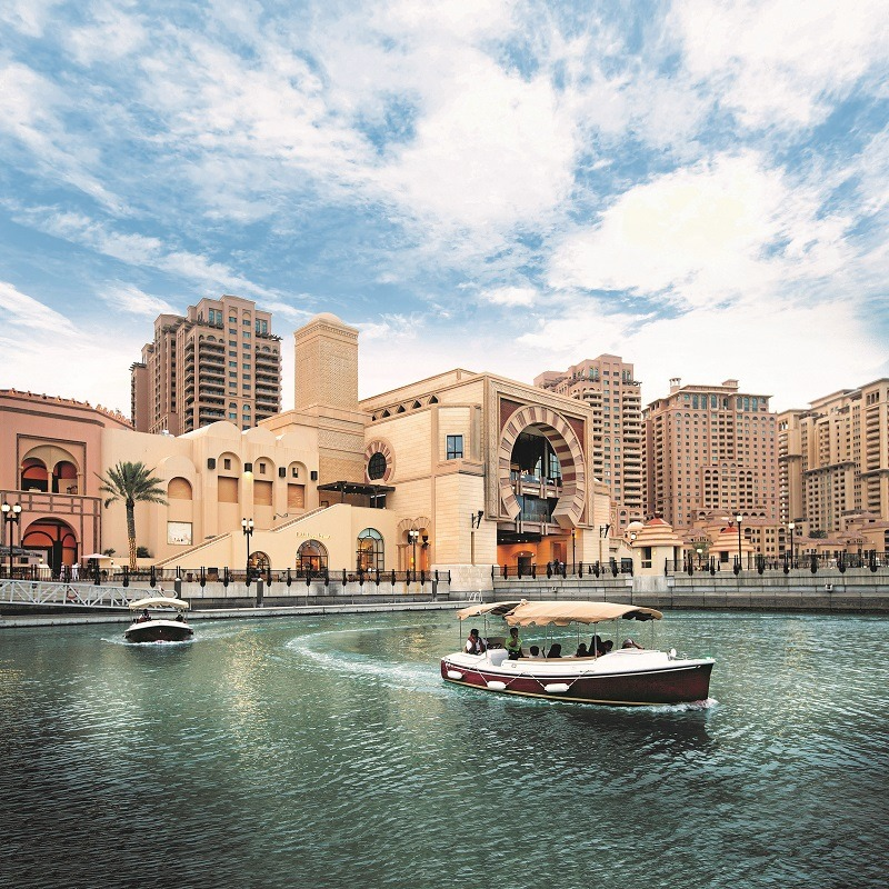 Boat cruise at Little Venice (The Pearl Qatar)
